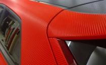 3D карбон красный