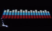 Неоновый эквалайзер - 90х25 русский флаг